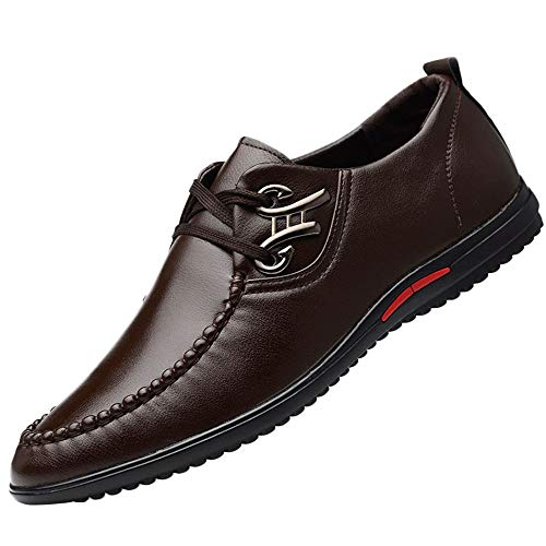 452565cdec5b ... Scarpe da Ginnastica Antiscivolo Scarpe Stringate Uomo Sneaker  Espadrillas Men s Fashion Casual Business Leather Lace Up Soft Driving Shoes  Natale Sale