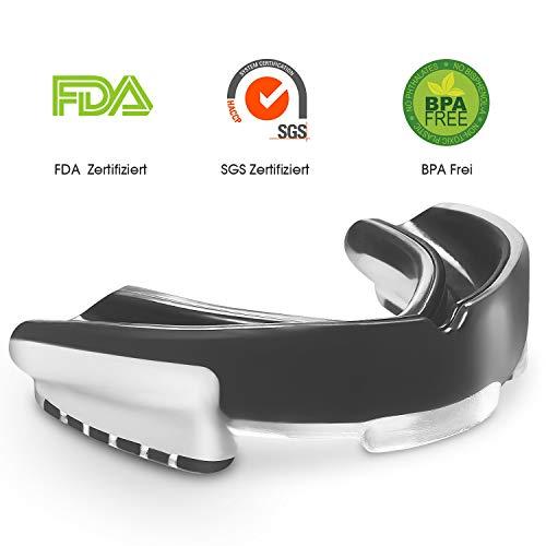 CENXINY Zahnschutz BPA Frei, Mundschutz für Kampfsport, Boxen, MMA, Basketball, Rugby, Kickboxen, Judo, Hockey, mit Aufbewahrungsbox