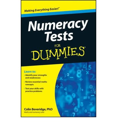 NUMERACY TESTS FOR DUMMIES (FOR DUMMIES (LIFESTYLES PAPERBACK)) - GREENLIGHT BY BEVERIDGE, COLIN (AUTHOR)PAPERBACK