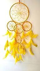 SGN Dream Catcher Decorative Showpiece - 55 cm (Wool, Yellow)