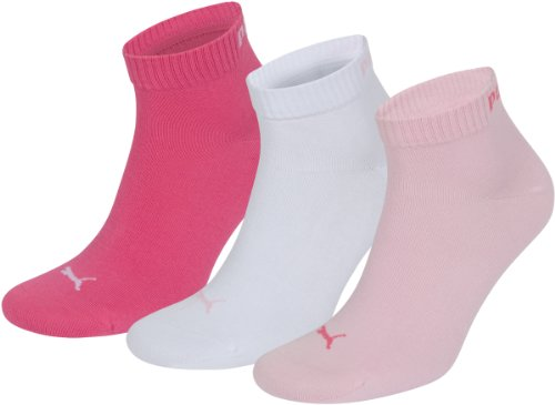 Puma Socken Quarter 3P,Violett(422 - Pink Lady),35-38,251015