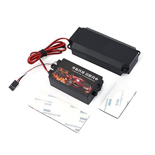 Peanutaod Zweite Generation Kühle Gasgestänge Gruppen Motor Sound-Simulator mit 1 Lautsprecher für RC Sport Auto-Modell-Fahrzeug