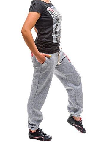 BOLF - Pantalons de sport – YMCMB OFFICIAL 601 – Femme Gris
