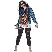 Disfraz de zombie bebé de látex mujer Halloween L