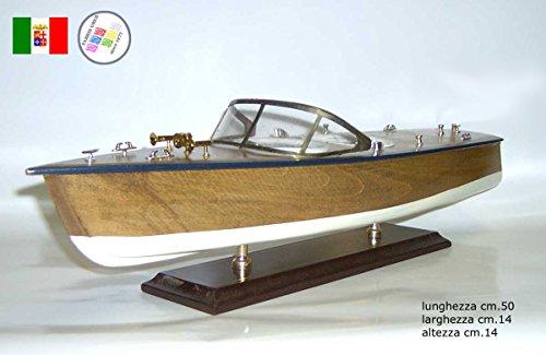 Fabris uber motoscafo d'epoca in legno cm.50 barca boat scafo modellino