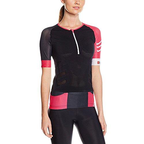 Compressport Damen TR3 Aero Shirt Black/pink, M -