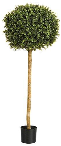 Künstliche 4ft (Buxus Buchsbaum) Formschnitt Single Ball, Baum, Echtholzstamm, geeignet für den Außenbereich.