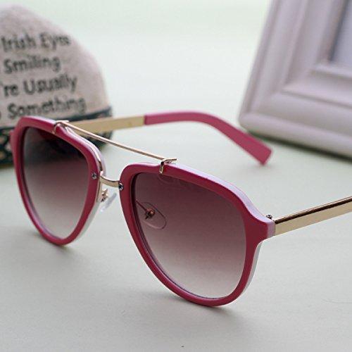 Sonnenbrille Weibliche Gezeiten-Stern-Modelle Gläser Persönlichkeits-Sonnenbrille-Damen Ringsum Gesicht Retro,A1