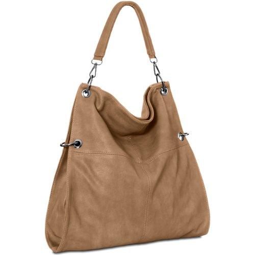 CASPAR Taschen & Accessoires, Borsa a spalla donna Sand