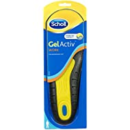 Scholl Men's Gel Activ Work Insoles, UK Size 7 to 12