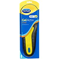 Scholl Men's Gel Activ Work Insoles, UK Size 7 to 12