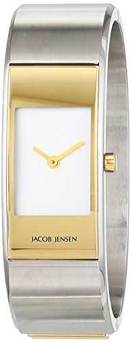 Damen-reloj Jacob Jensen cuarzo analógico de acero inoxidable 32442