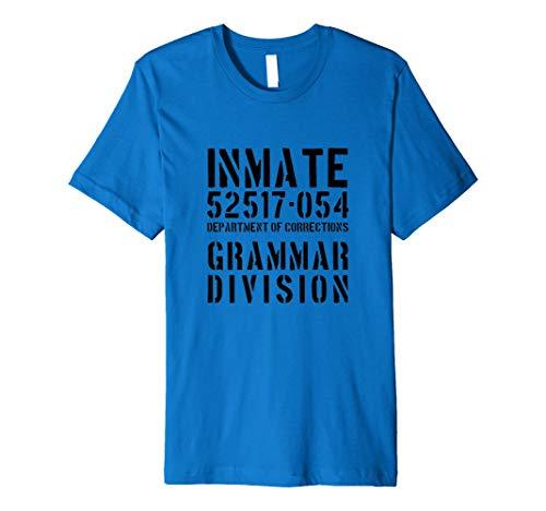 Gefangene Kostüm Shirt Jail Inmate Funny -