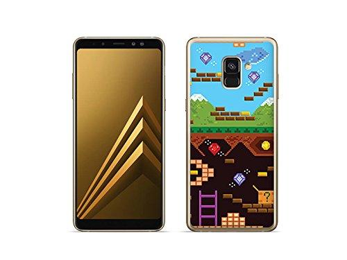 etuo Samsung Galaxy A8 (2018) - Hülle Fantastic Case - Oldschool Spiel - Handyhülle Schutzhülle Etui Case Cover Tasche für Handy