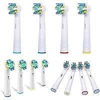 Brosse à dents brosses de remplacement Brosse à dents électrique Têtes de rechange compatible avec Oral B/Braun...