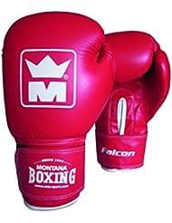 Montana 452025–Guantes de Boxeo Unisex, Rojo