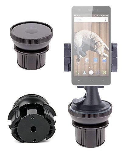 DURAGADGET Soporte De Coche Para Smartphone THL T6C | Doogee Valencia2 Y100 Plus | Elephone M2 | P7000 Pioneer + Base...
