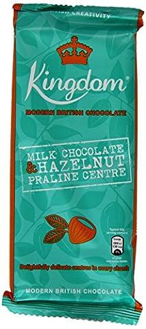 Kingdom Milk Chocolate with Hazelnut Praline Centre Bar 100 g (Pack of 5)