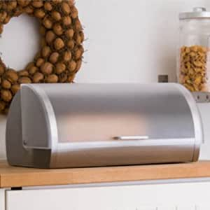 Brotkasten Edelstahl Brotbehälter mit Klappdeckel Brotbox Brotkiste