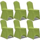 Anself 6er Set Stuhlhusse Stuhlbezug für viele Stuhlgrößen Grün