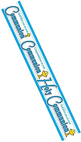 First 1st Holy Communion Banner Blue Party Hanging Decoration Boy For Him