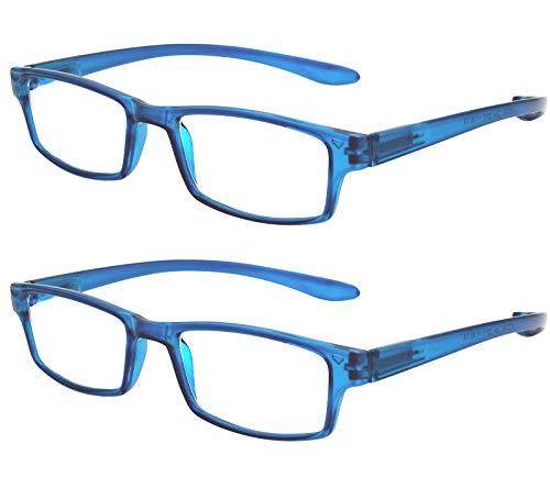 f10dce7873 TBOC Gafas de Lectura Presbicia Vista Cansada - (Pack 2 Unidades) Graduadas  +2.00