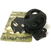 """atairsoft Tactical Airsoft de liberación rápida única 3/4""""0,75"""" linterna Clamp Holder Mount ajuste rápido casco Side Rail, negro"""