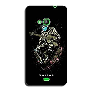Mozine Strumming Astronaut printed mobile back cover for Nokia lumia 540