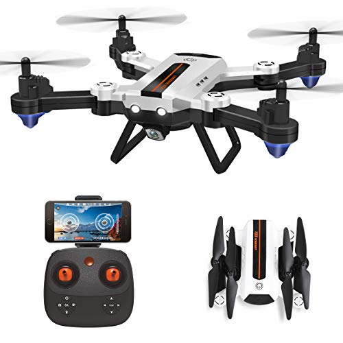 HAOXIN F22G FPV RC Drone Folding Quadcopter with Wide Angle Camera Adjustable 720P HD, Long Range Drone Outdoor Easy Fly Planning for Helicopter, Long Life Modular Battery
