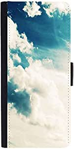 Snoogg Sunshine Clouds Graphic Snap On Hard Back Leather + Pc Flip Cover Sams...