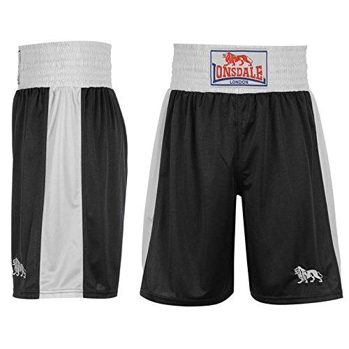 Lonsdale Herren Boxing Shorts Trainingshose Boxen Sporthose Kurze Hose Schwarz Small