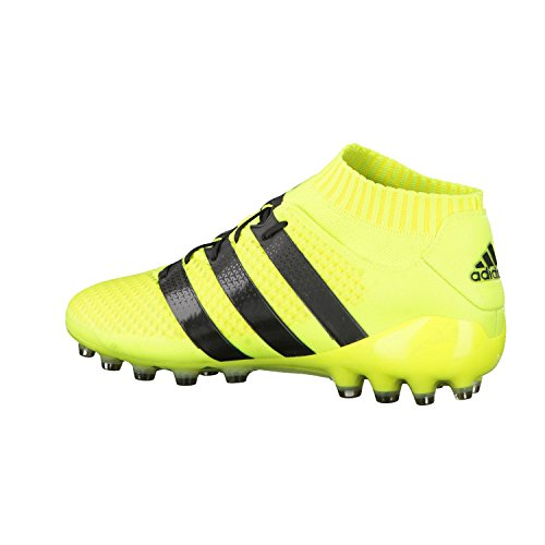 adidas Ace 16.1 Primeknit S80580, Entraînement de football homme solar yellow- core black- silver met.
