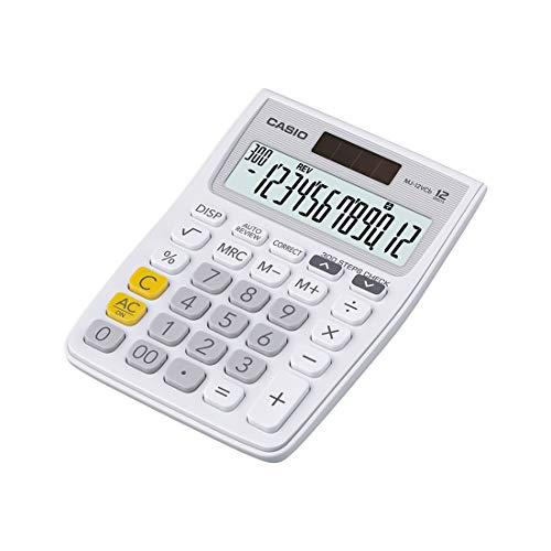 Casio MJ-12VCb-WE 300 Steps Check & Correct Colourful Desktop Calculator (White)