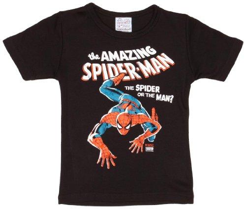 aby T-Shirt Marvel The amazing Spiderman, Gr. 3 Jahre (Herstellergröße: 2-3 ans), Schwarz (Amazing Spider Man 2 Kostüm Design)