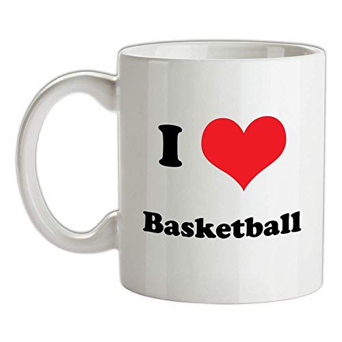 I Love Basketball Mug - Equipment - NBA - Jersey - Basket Ball