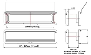 """10"""" WHITE Letterbox with WHITE surround for upvc doors - Midrail"""