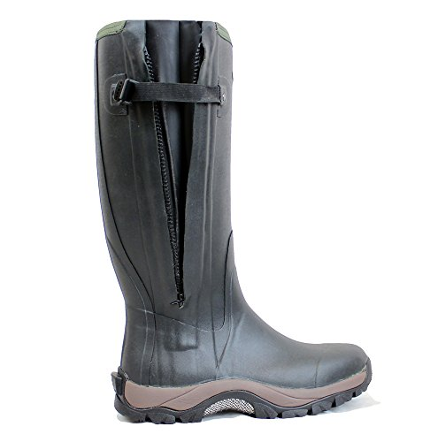 DIRT BOOT NEOPRENE RUBBER WELLINGTON MUCK BOOT PRO SPORT HUNT ZIP GREEN...