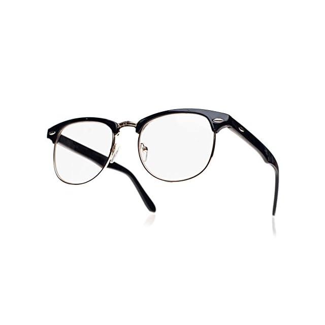 d0d4f4b07e9ca4 Lentille Claire Lunettes Lens Style Mode Unisexe Jolie pour Geek Nerd Retro  Round Vintage lunettes Hommes ...