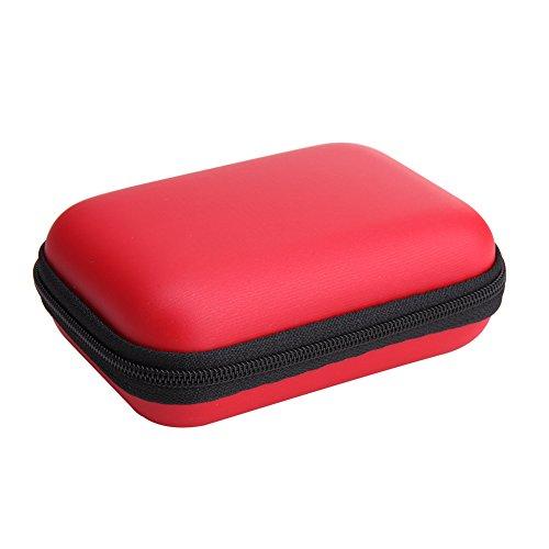 Matefield Mini Quadratisch Eva Fall Headset Bluetooth Kopfhörer Kabel Aufbewahrungsbox rot rot