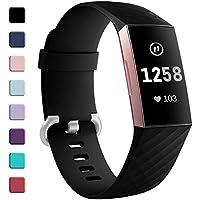 HUMENN für Fitbit Charge 3 Armband, Klassisch Armbänder Einstellbare Ersatzband für Fitbit Charge 3 Aktivitäts Tracker, Klein Groß