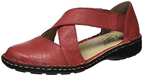 Rieker Damen 49863 Geschlossene Ballerinas, Rot (Rosso / 34), 39 EU