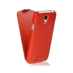 Issentiel Paris - Housse pour Galaxy S4 Cuir Rouge Grainé - Collection Prestige