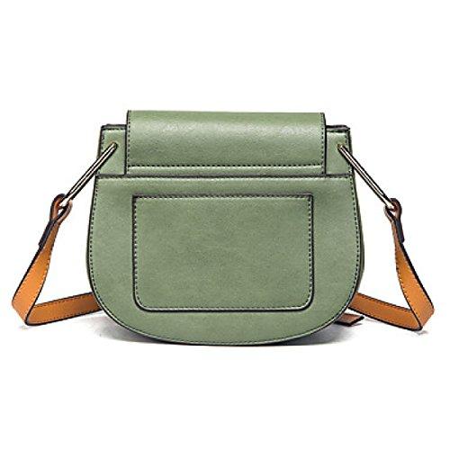 DFUCF Damen PU Büro Beruf Umhängetasche Kuriertasche Handtasche Umhängetasche Tasche Mode Lässig Langlebig Brieftasche clover