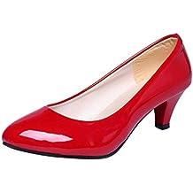 c84c0de7e QinMM Zapatos tacón Alto Tacones Elegante Fiesta y Boda Noche para Mujer