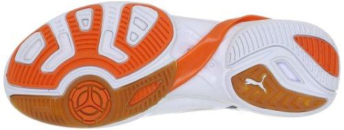 Puma Accelerate VI, Scarpe di Sport–interno Uomo Blanc - Weiss (white-black-team orange 07)