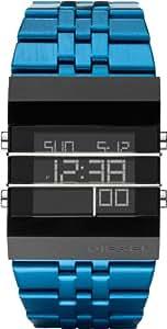 Diesel - DZ7229 - Montre Homme - Quartz Digital - Alarme/Eclairage/Chronomètre - Bracelet Acier Inoxydable Plaqué Bleu