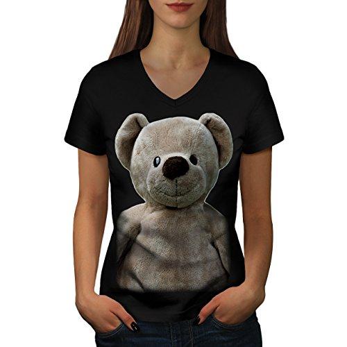 ourson-ours-ami-jouet-amusement-femme-nouveau-noir-xxl-t-shirt-wellcoda