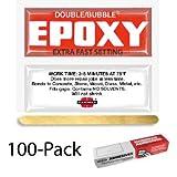 Hardman double Bubble Rouge # Poivre Extra rapide Réglage époxy (3–5Minute)–Lot de 100
