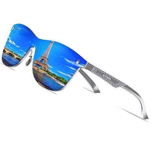 KITHDIA Unisex Polarisierte Fahren Sonnenbrille Herren/Damen Aluminium Metall Ultra Metallrahmen S8203