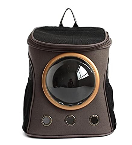 Capsule Pet Backpack Airline Approved Transparent Respirant Venthole Chien Cat Carrier Portable Sac à Main Voyage En Plein Air Walking Walking Suitcase Large Space , gray , s